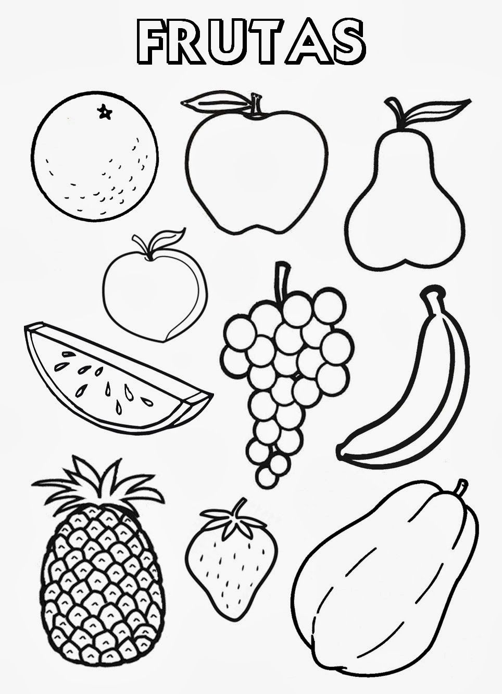 frutas coloring page de todo Pinterest Spanish