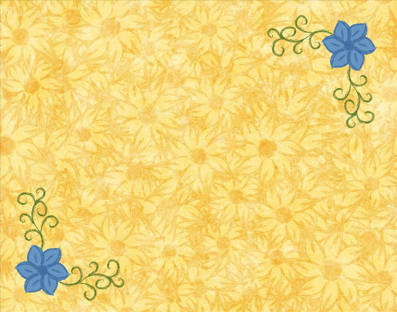 This is nice design borders Yellow and Blue Flowers A