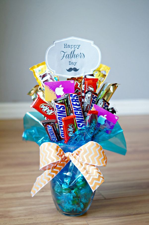 Fathers Day Candy Bar Bouquet So Easy To Make Would Be