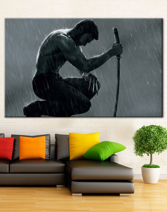 Wolverine Canvas 5 Panel Bedroom Wall Art Home Decor