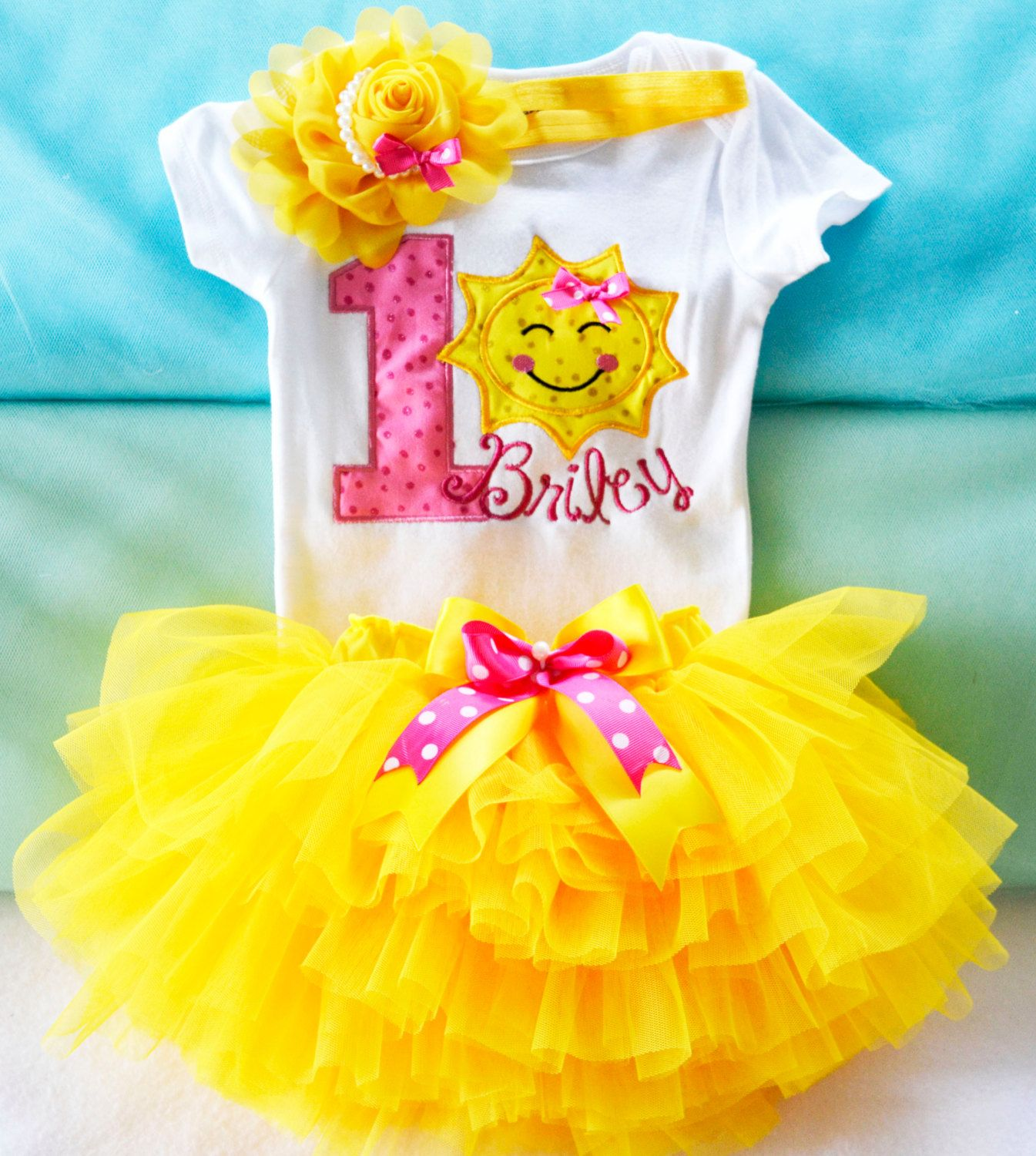 You are my sunshine 1st birthday outfit,Girls Yellow Sun