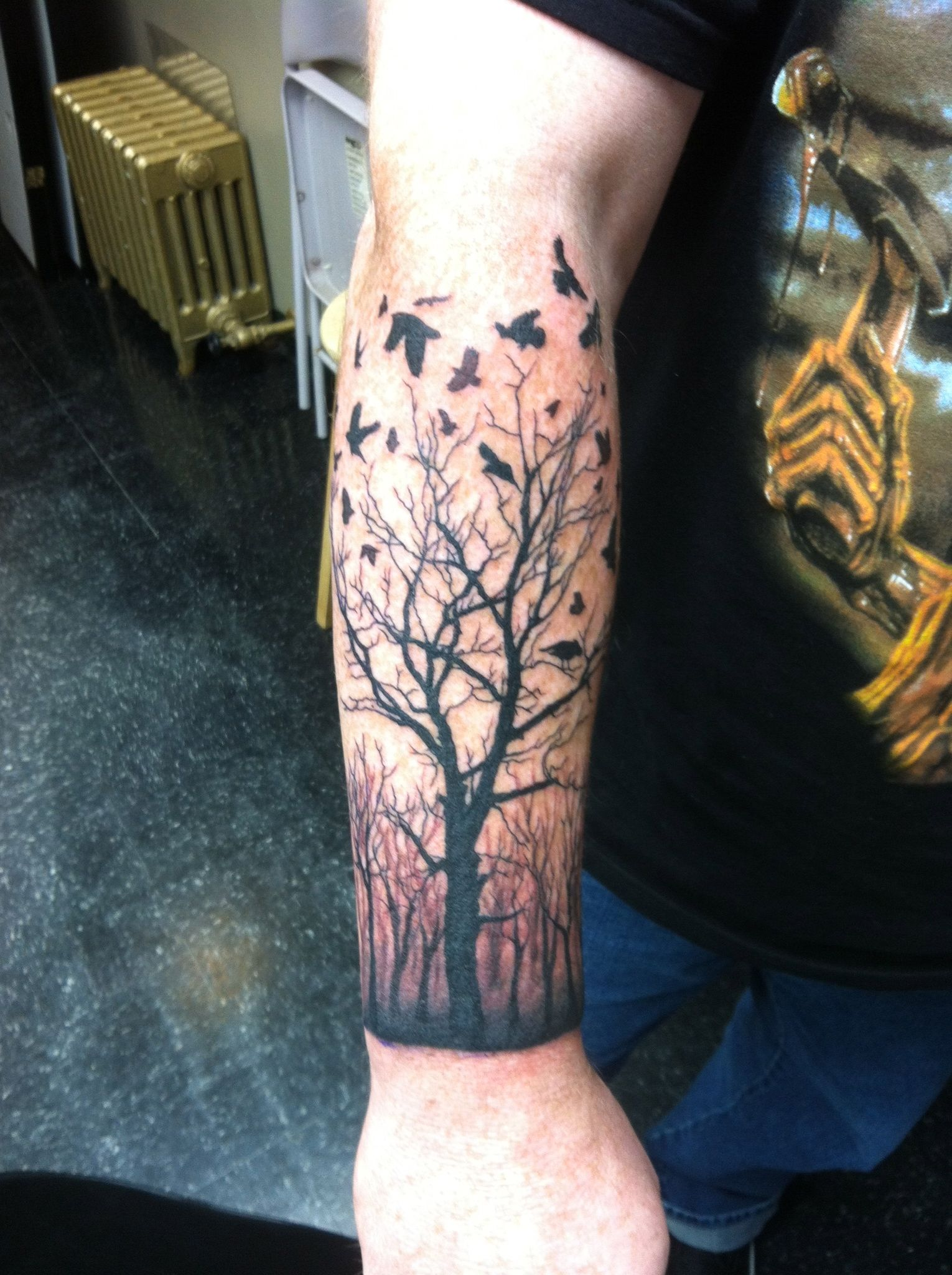 Pin Dead Tree Silhouette Tattoo on Pinterest tattoo