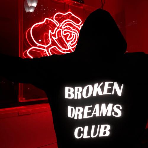 grunge red aesthetic neon hoodie broken dreams club feel