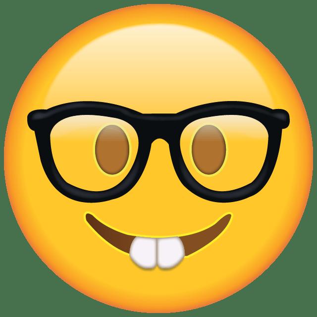 Download Nerd with Glasses Emoji Emoji Pinterest