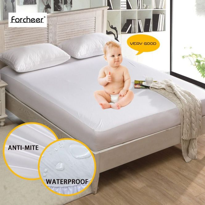 House Ideas 1pc Russan Size 180x200 28cm Smooth Waterproof Mattress Protector Cover For Bed Wet Breathable
