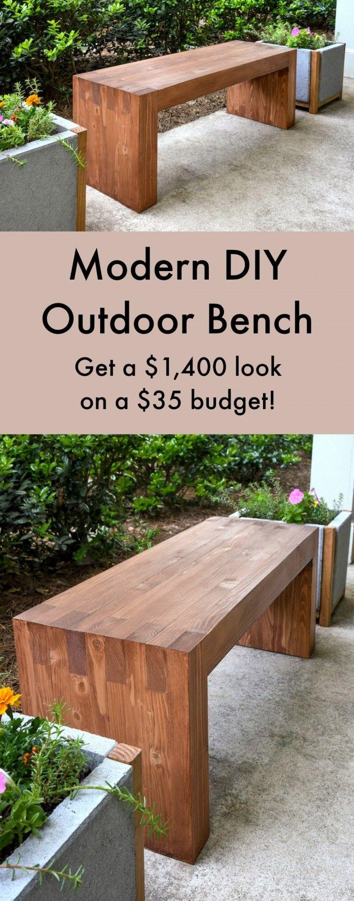 Williams Sonoma Inspired DIY Outdoor Bench Bench, Modern