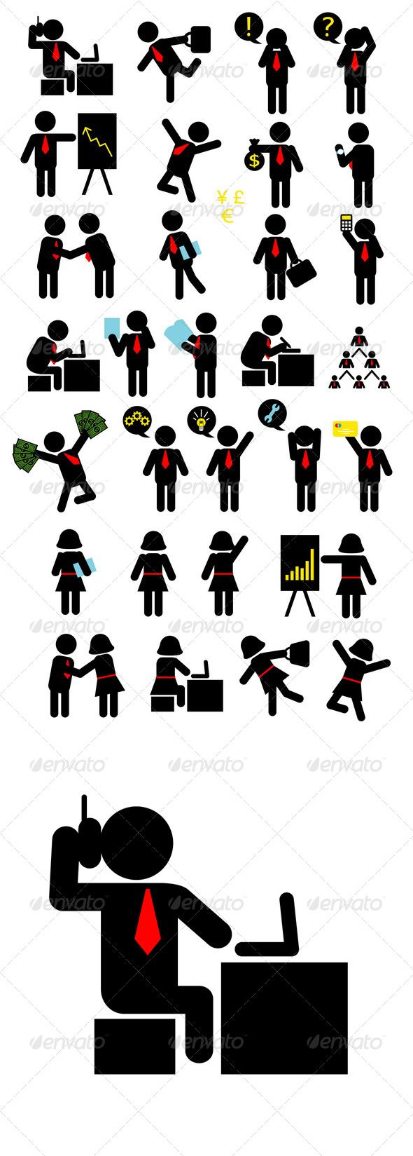 Business Pictogram Icons Vector program, Pictogram and