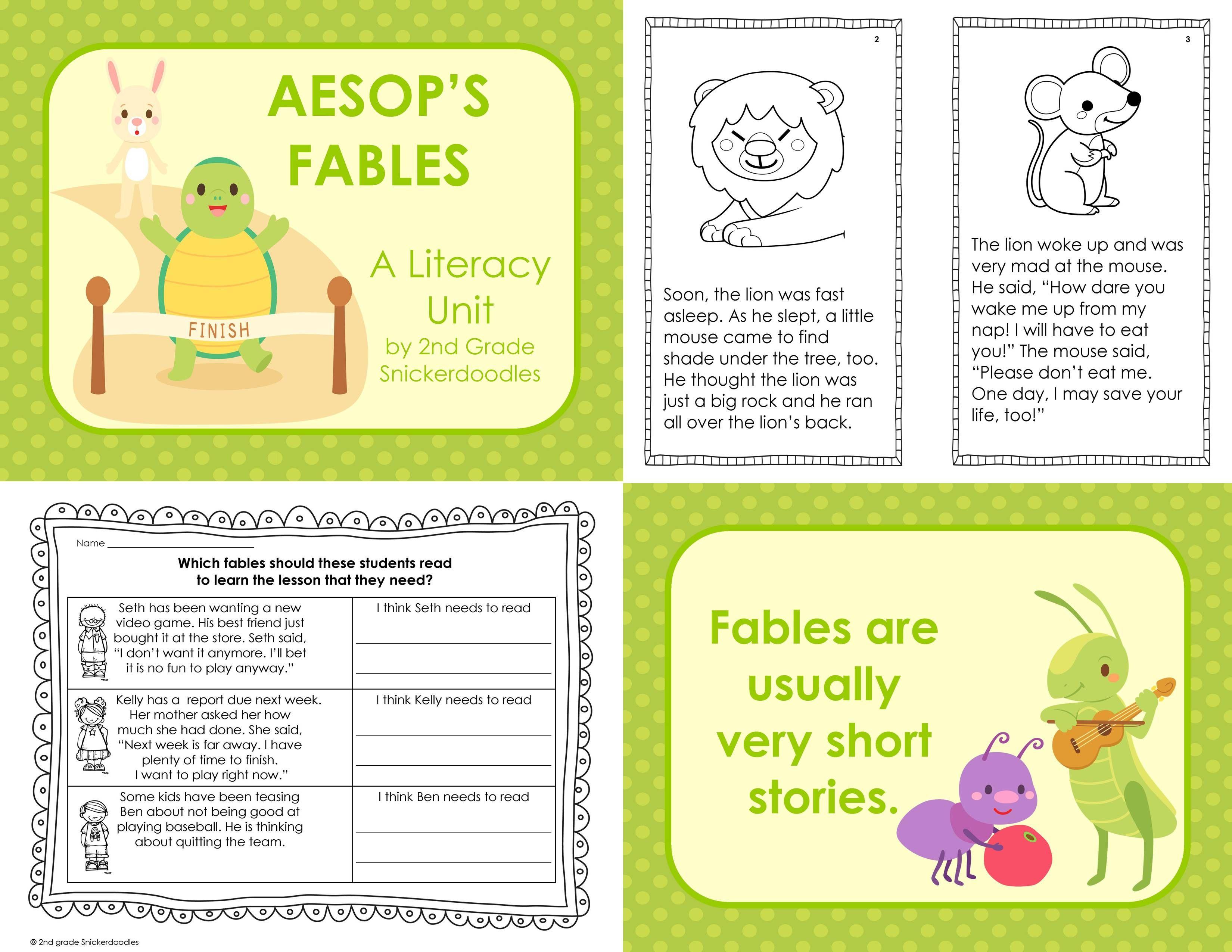 Aesop S Fables A Literacy Unit