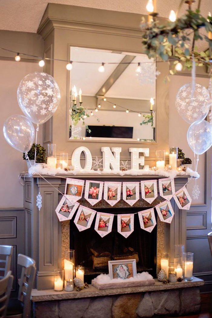 Firstyear photo banner, decor and bunting from a Winter