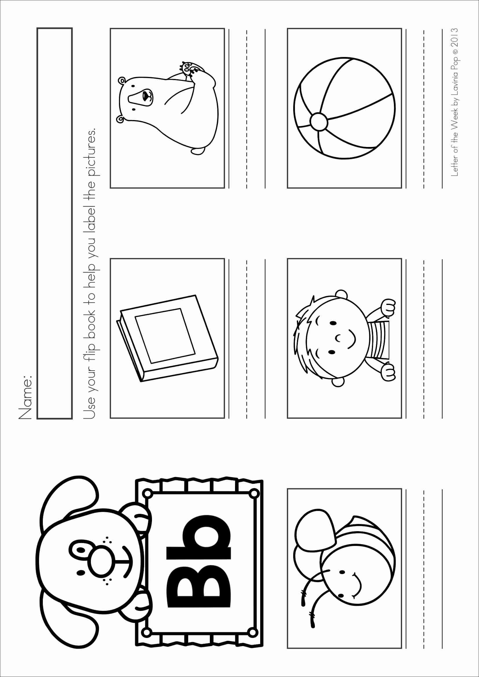 Free Phonics Letter Of The Week B Label The Beginning Bee Pictures Using The Flip Book Reader