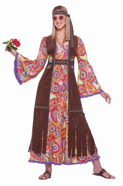 amazon 70s hippie costumes Women's Hippie Love Child