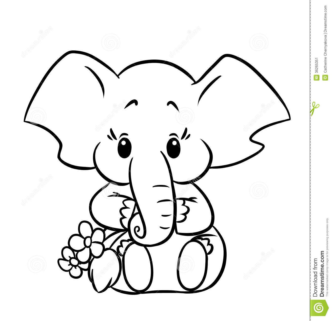 baby elephant coloring pages aneatk
