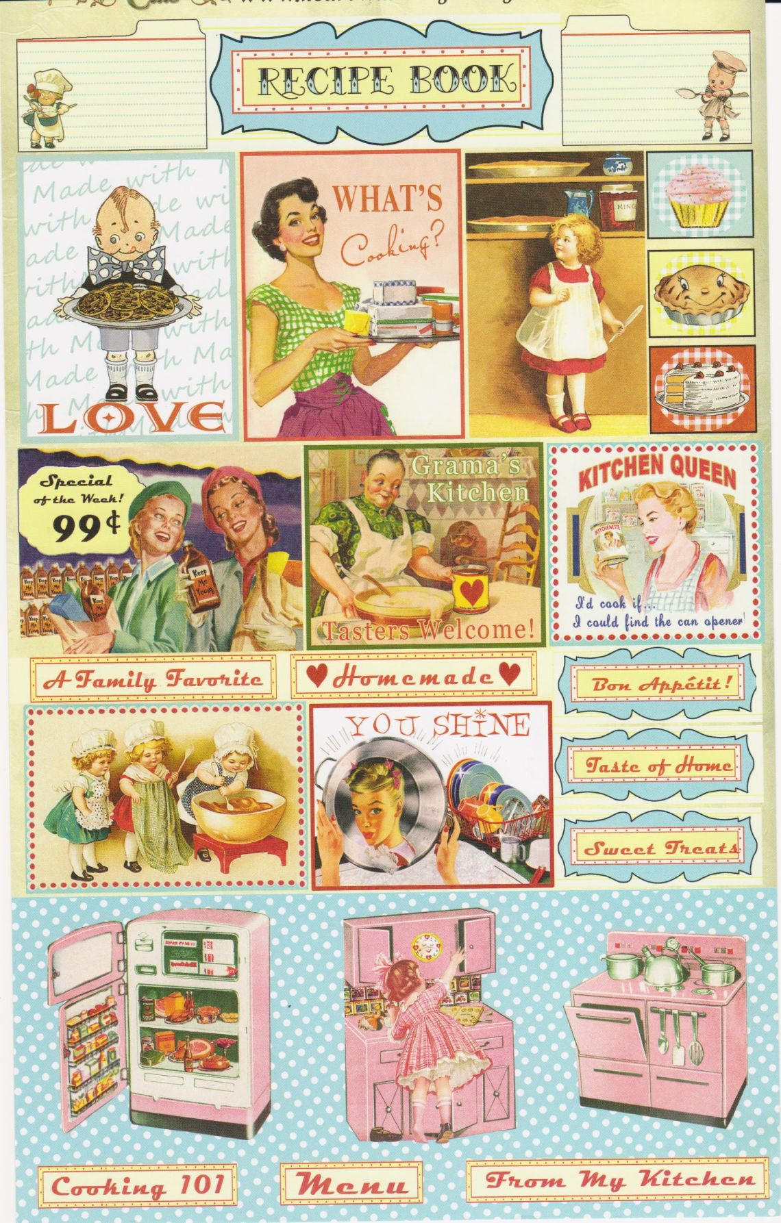 Kitchen Time Vintage Cuts Picture Printed On Cardstock Not A Stamp But Oh So Lovely Images From Crafty Secrets