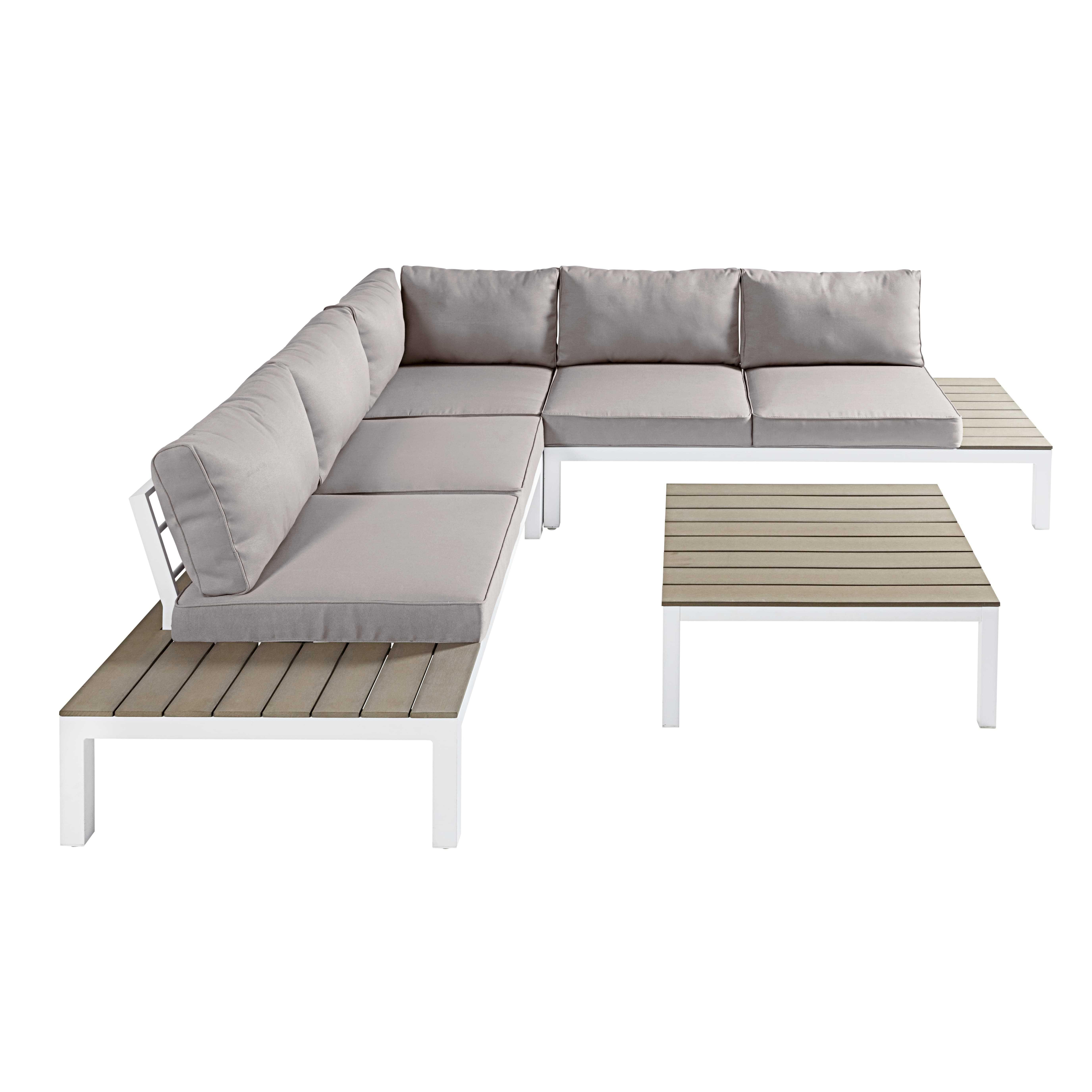 Salon De Jardin Places En Composite Aluminium Blanc Et