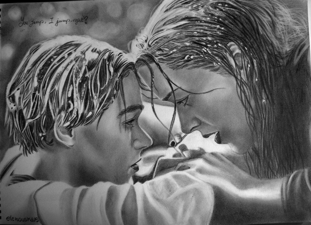 Jack & Rose by Elena [©2012] Titanic (1997) Pinterest