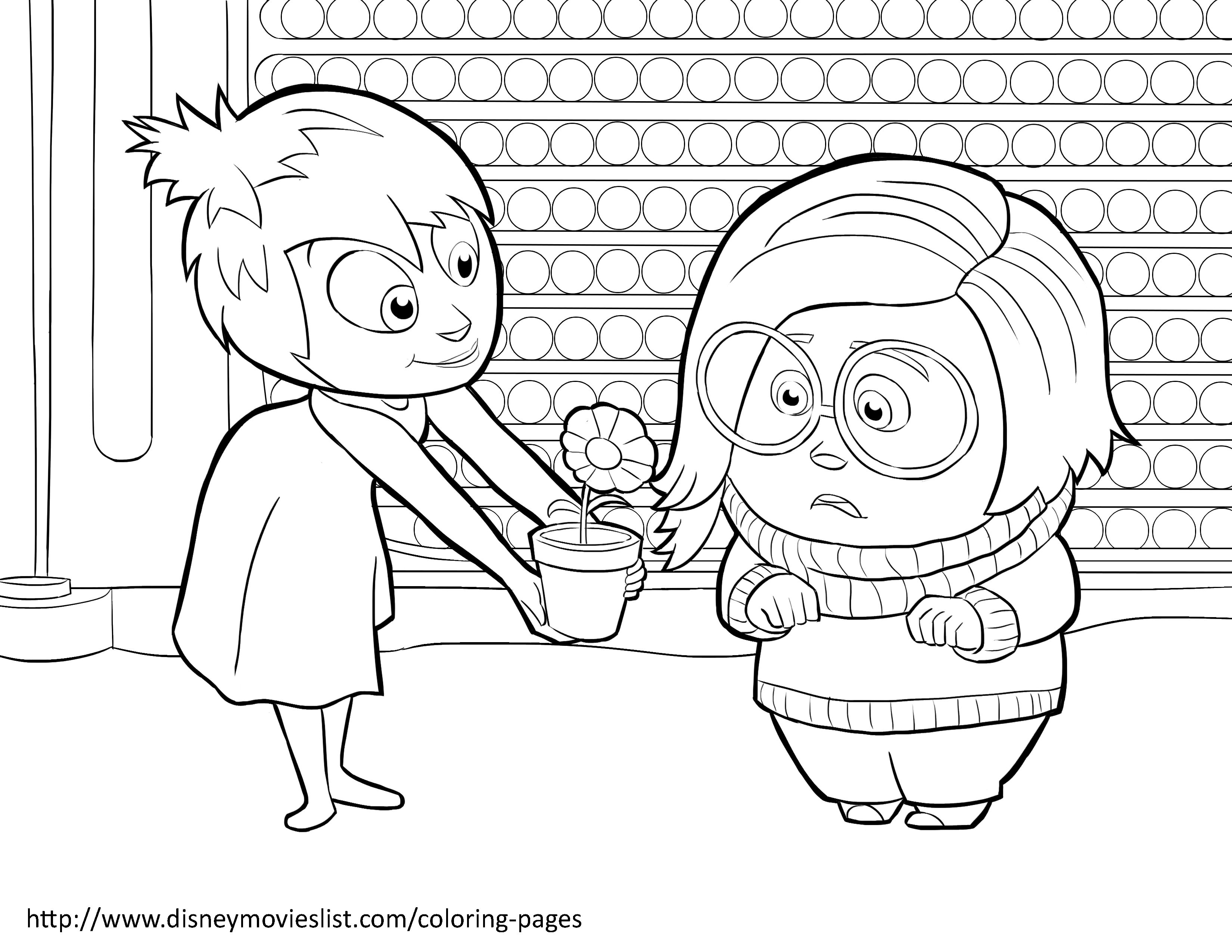 Disney S Inside Out Coloring Pages Sheet Free Disney Printable Inside Out Color Page