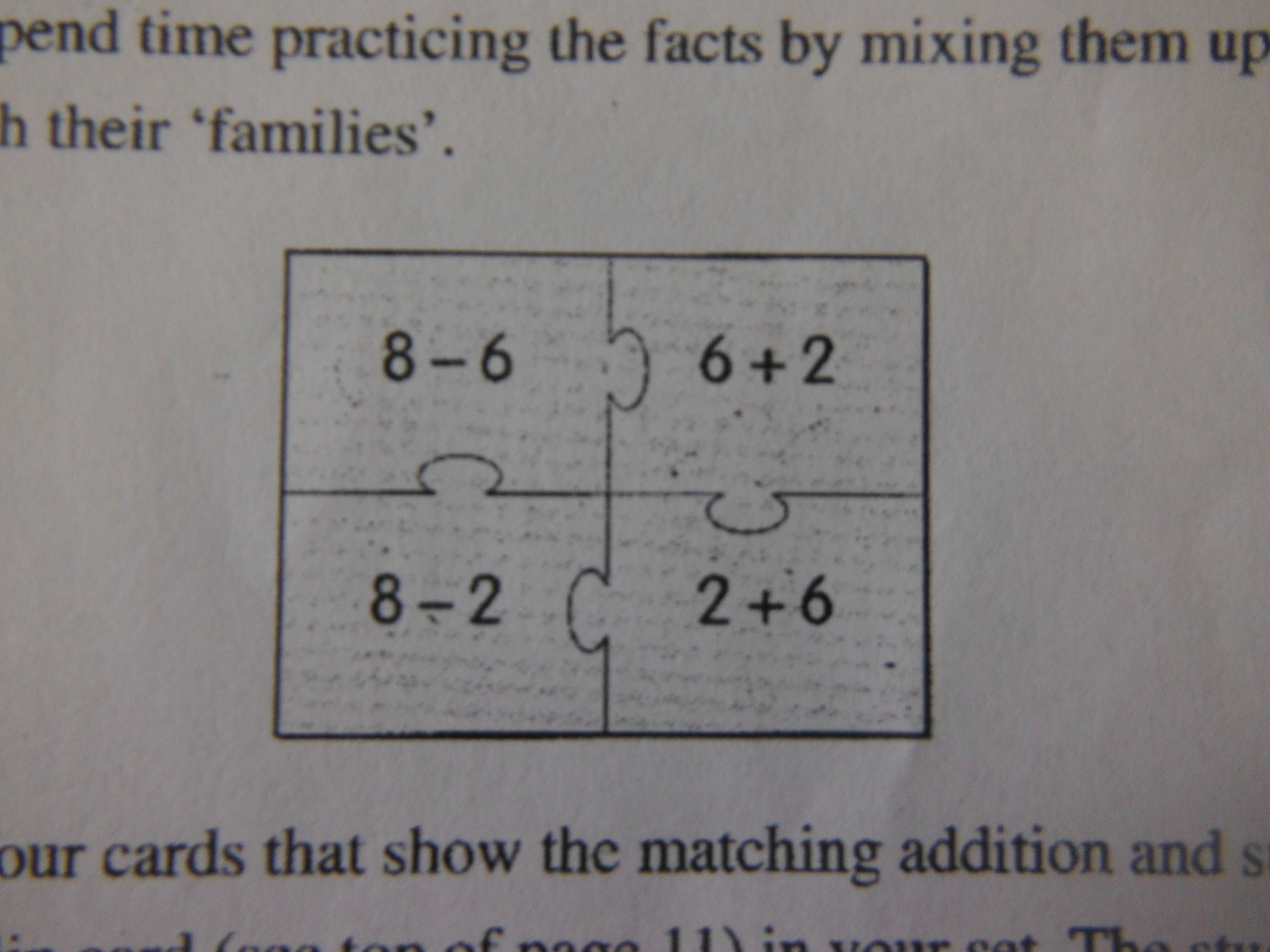 Jigsaw Puzzle Fact Families Teach Students The Inverse Operations For Addition Sbutraction
