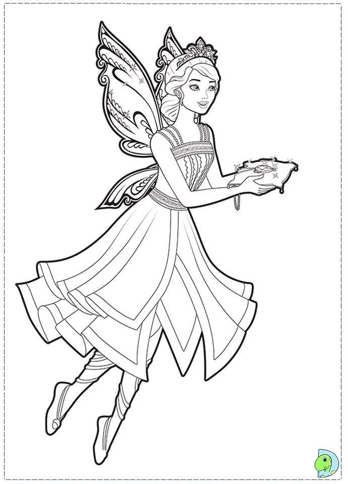 Fairy Princess Coloring Pages Page Az
