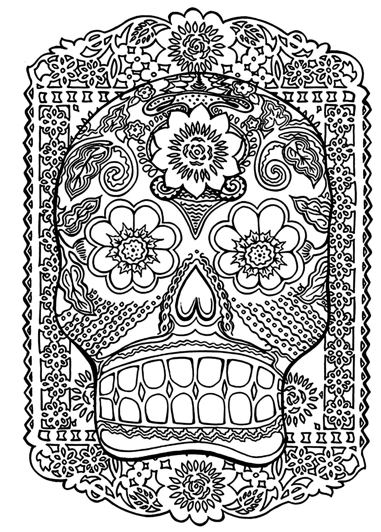 To Print This Free Coloring Page «coloring Skull Head Antistress
