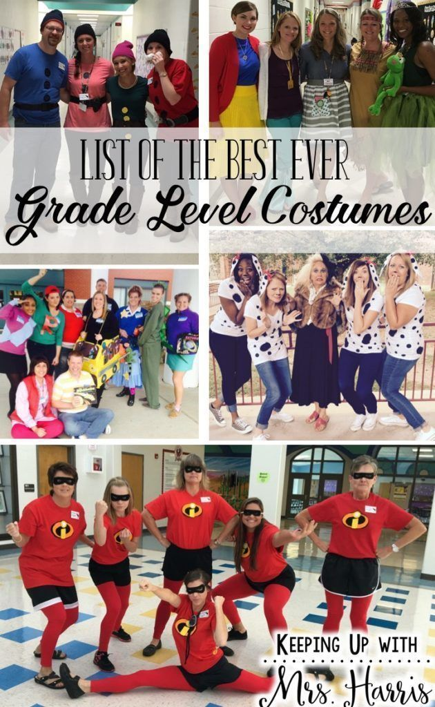 List of Best Ever Grade Level Costumes Book characters