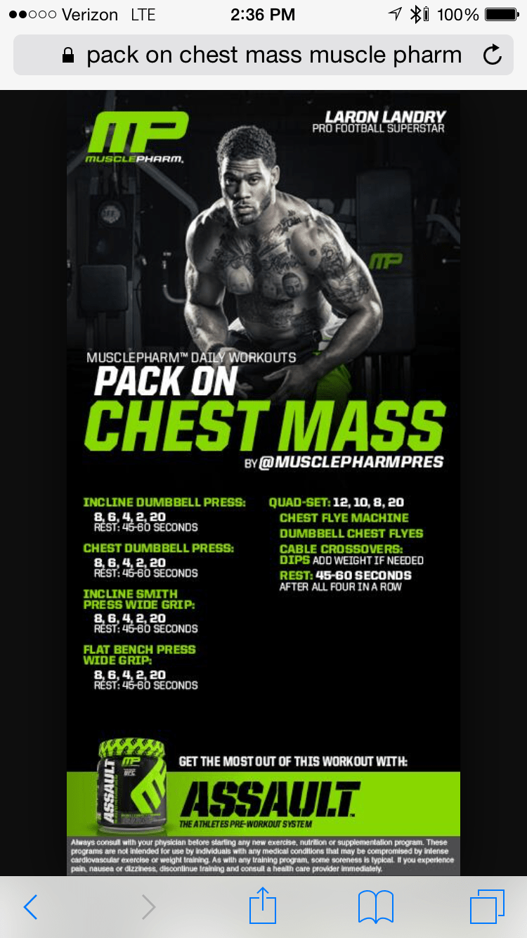 Musclepharm Chest Workout Eoua Blog Png 750x1334 Muscle Pharm Shoulder Workouts