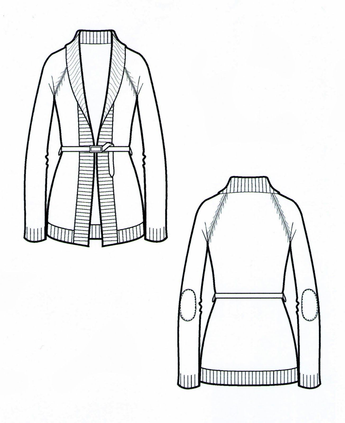 Flat Drawing Coat
