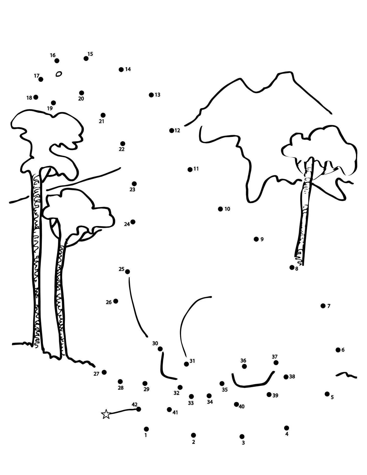 Dinosaur Dot To Dot For Kid Drawing Start