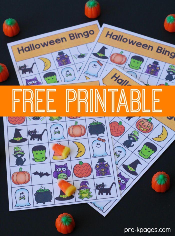 Printable Halloween Bingo Game Awesome, School fun and