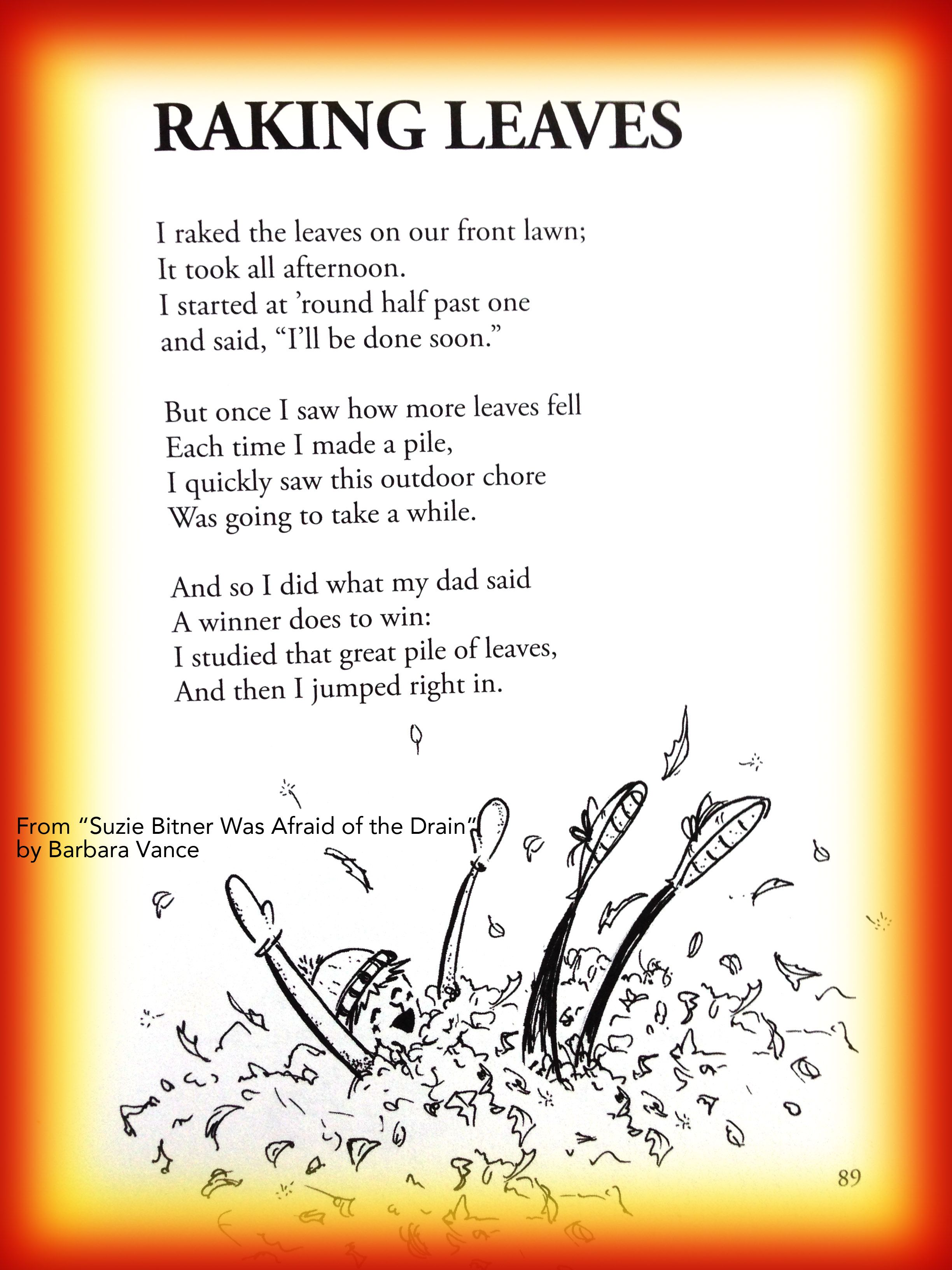 Fall Children S Poem About Raking Leaves In Autumn Great
