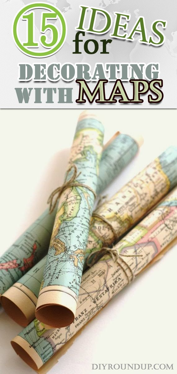 15 Ideas for Decorating with Maps The old, Vintage maps