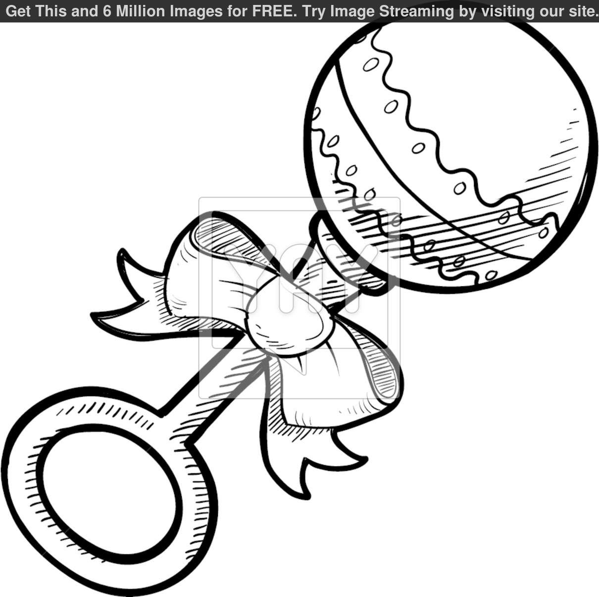 Baby Rattle Coloring Pages