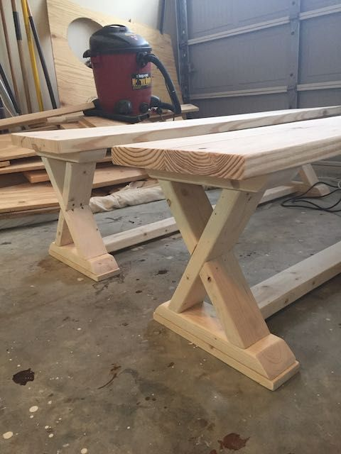 DIY X Brace Bench Free Amp Easy Plans Bench Woodworking And Woods