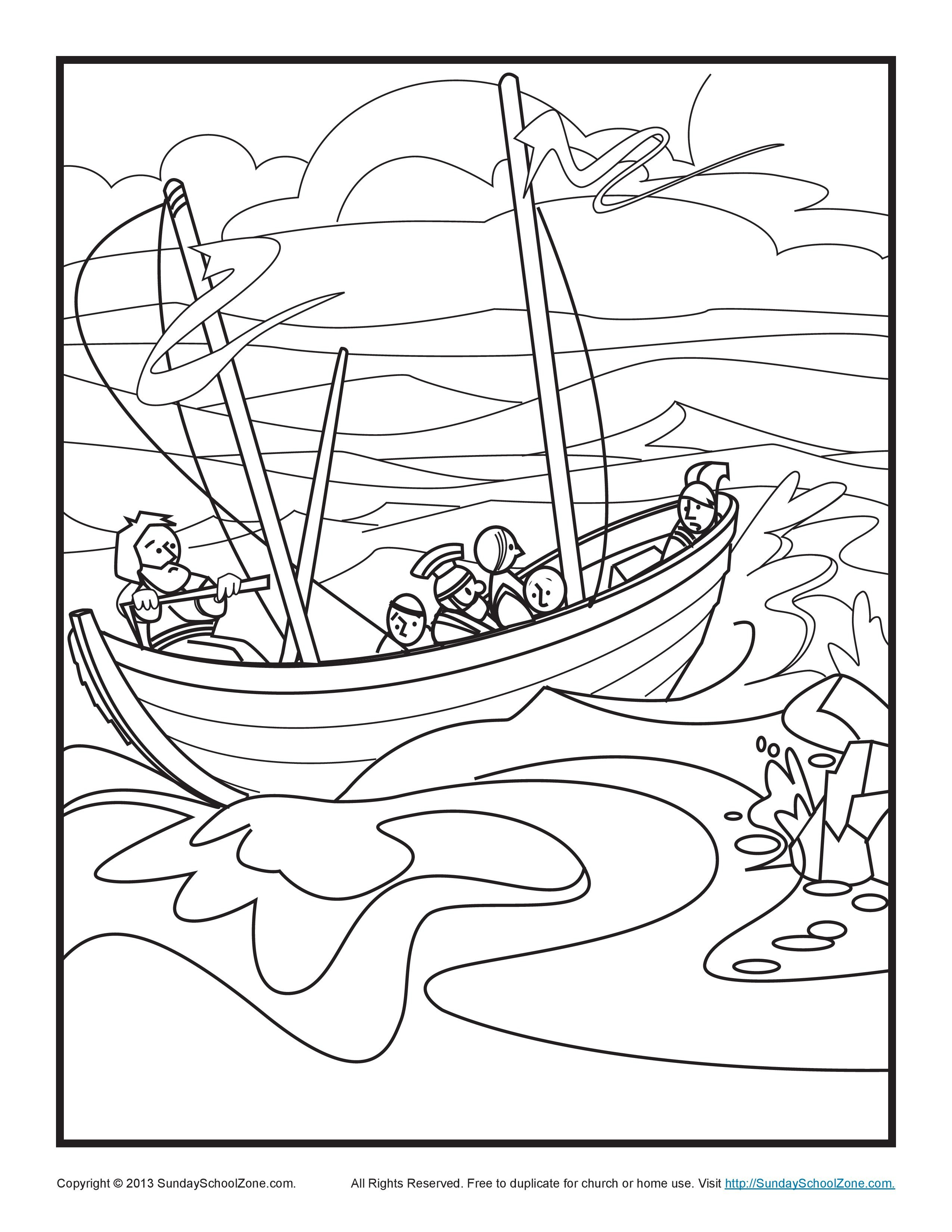 Paul Shipwreck Coloring Page