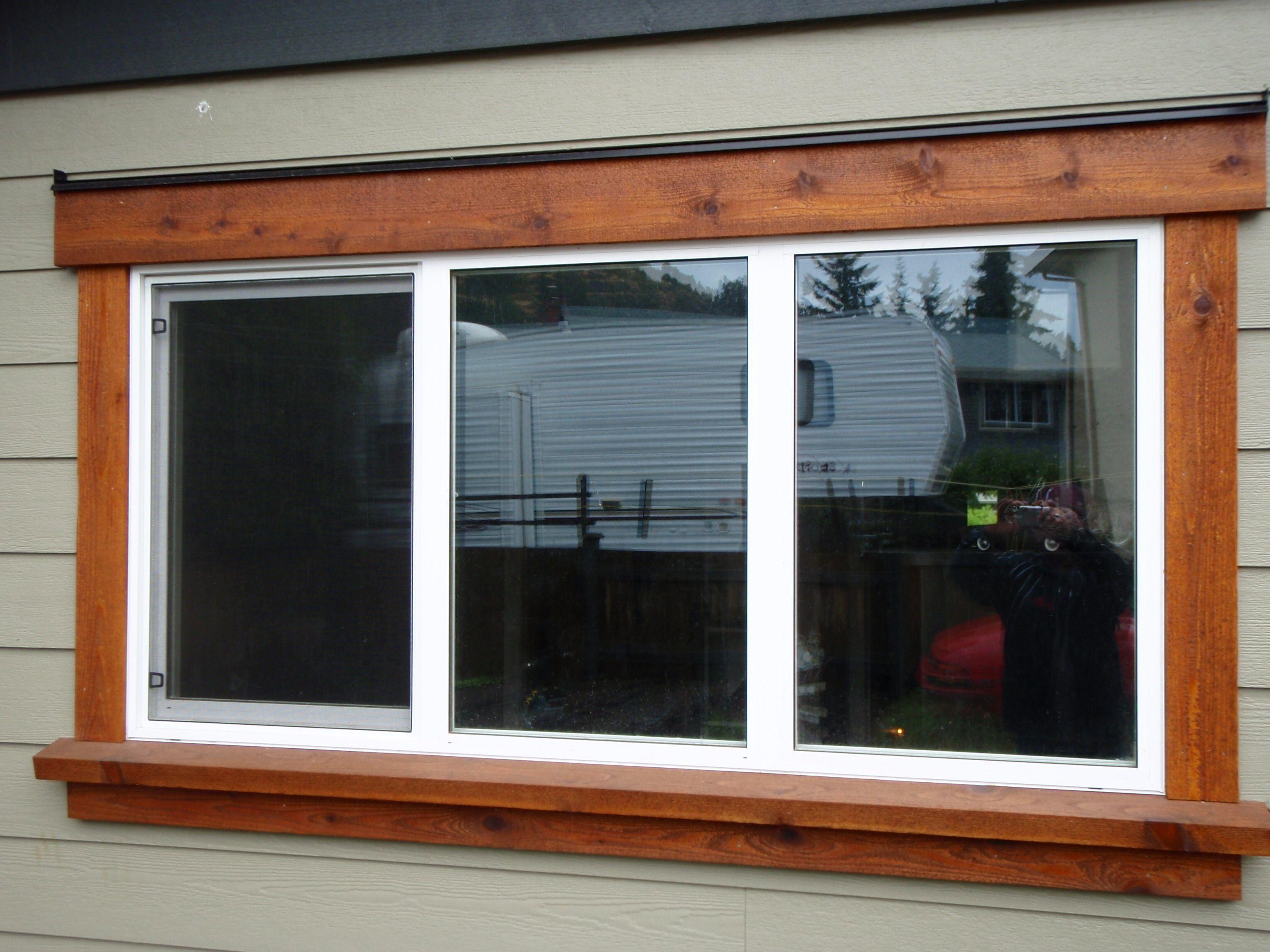 Modern Exterior Window Trim Ideas. . greenlake custom home