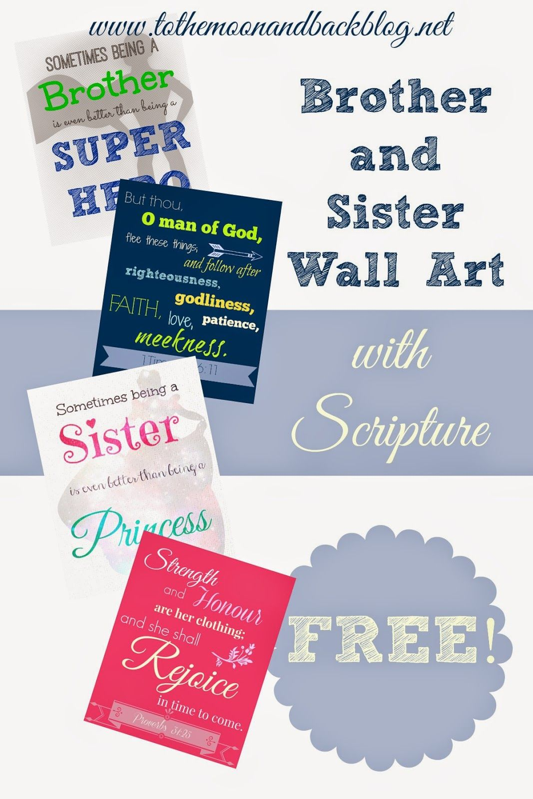 Brother Sister Room Wall Art Free Printables Love This