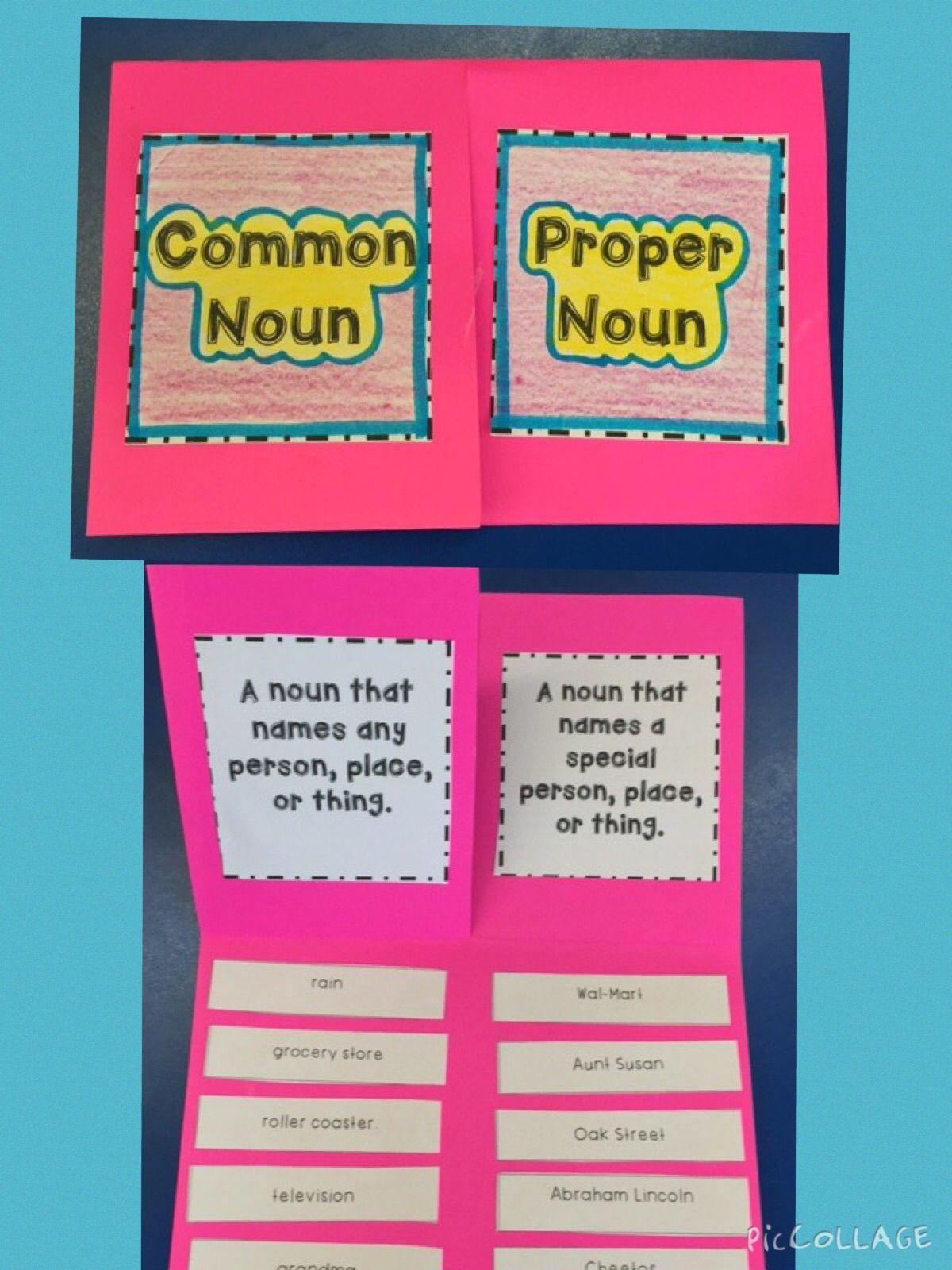 Common Amp Proper Noun Foldable And Activites