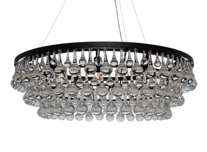 32 Inches 780 Celeste Glass Drop Crystal Chandelier Black Light Up My Home