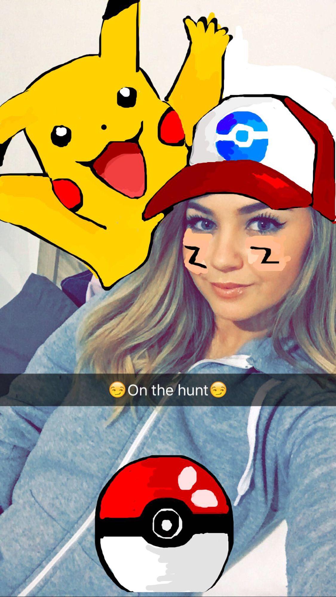 Snapchat drawing Pokemon go snapchat pokemon My