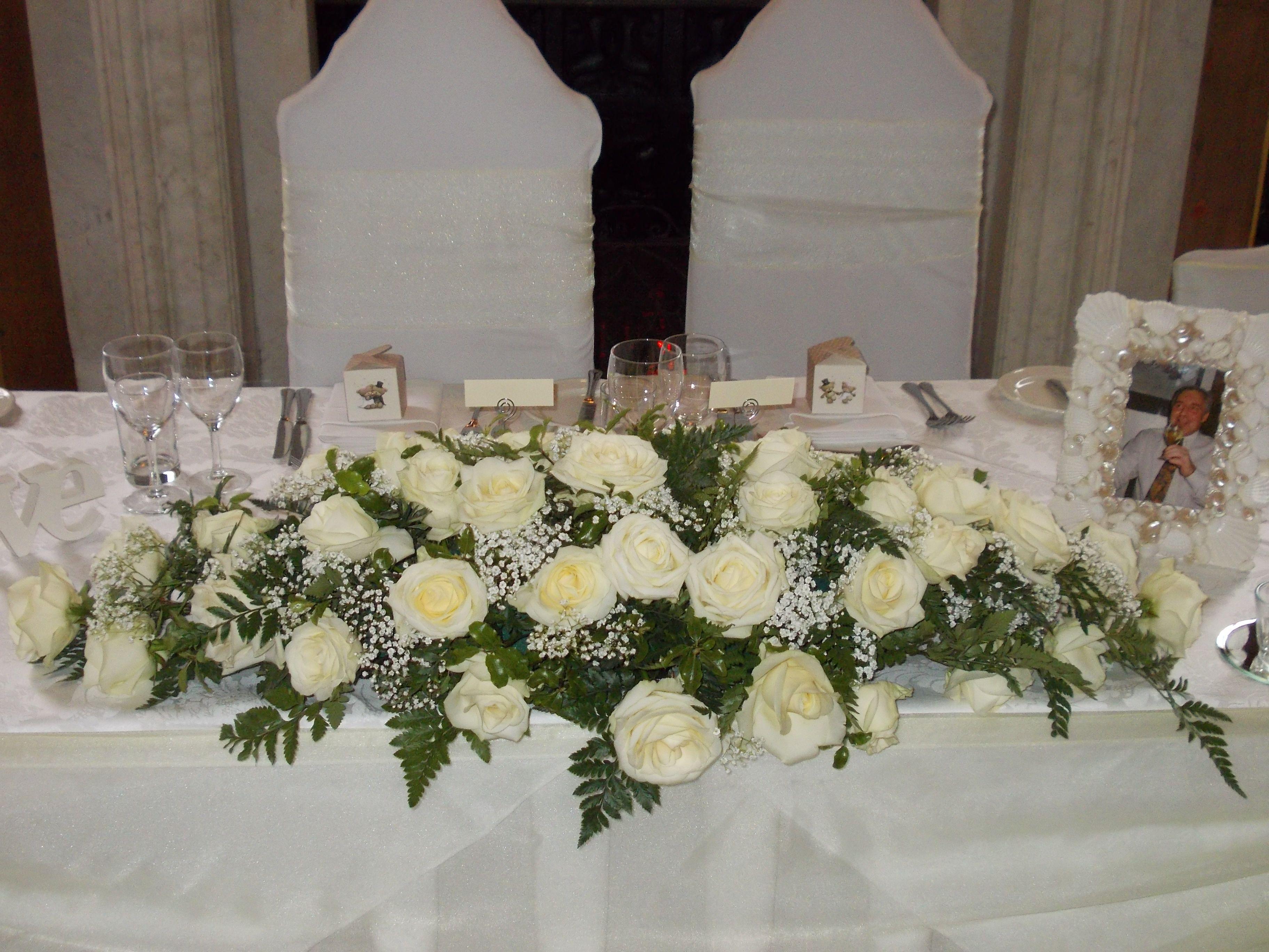 top table flower arrangement in the Ballroom