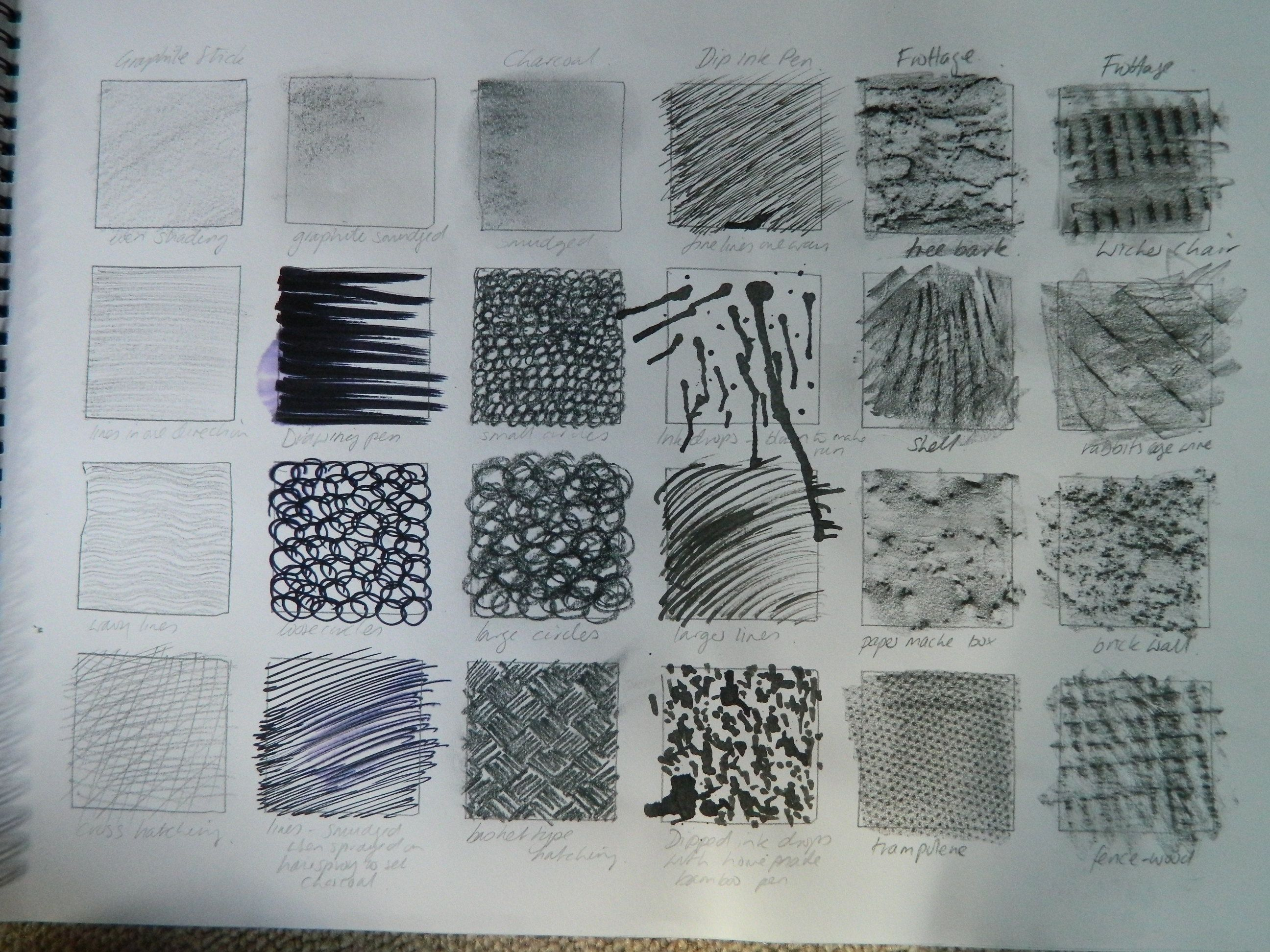Texture In Drawing