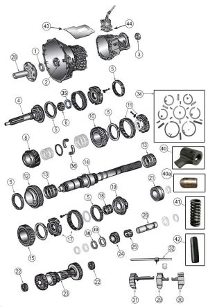 New Venture Gear NV3550 Transmission Parts | Jeep Liberty KJ Parts Diagrams | Pinterest | Jeeps