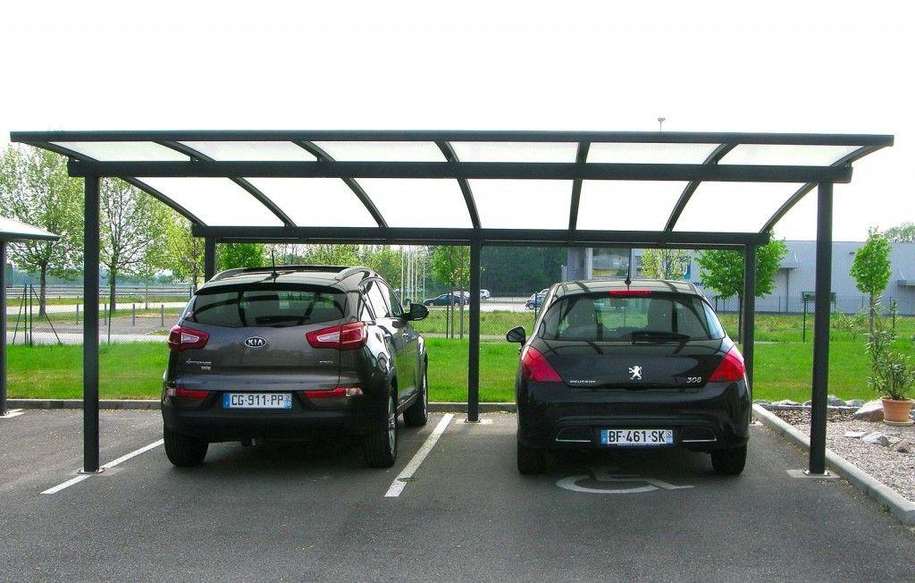 carport abri 2 voitures cintré en aluminium par JLC