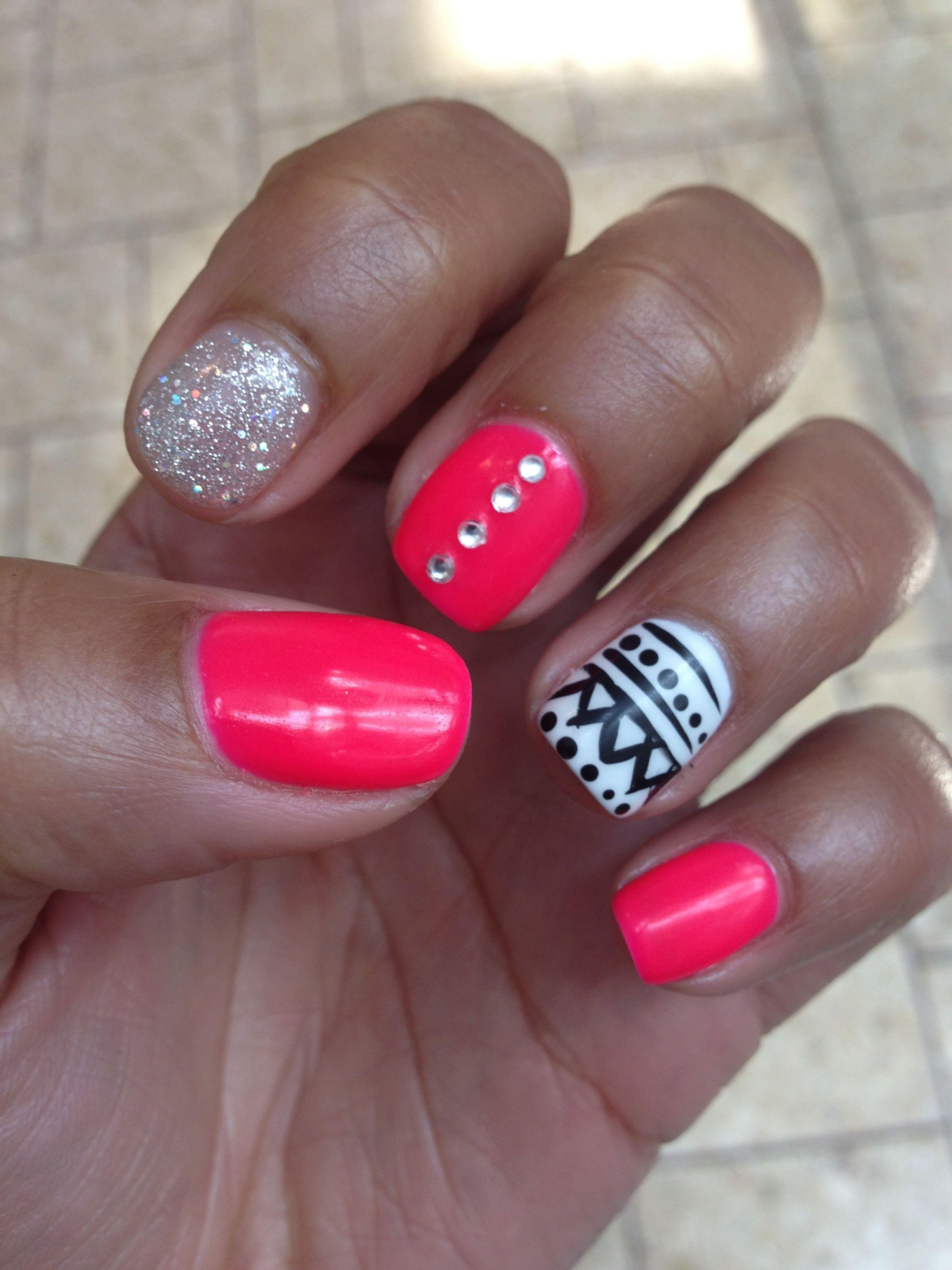 decoracion de uñas con gelish Uñas Pinterest Nail