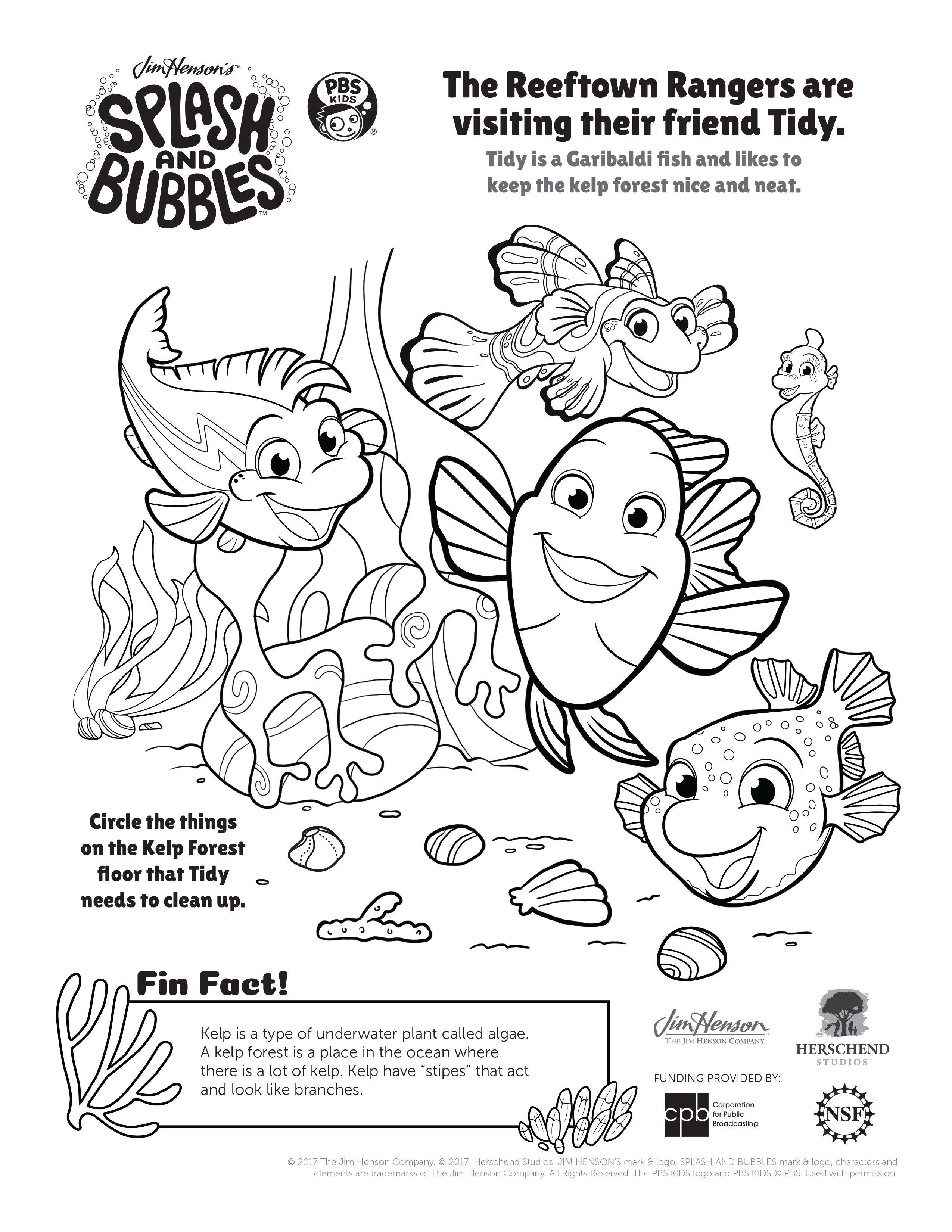 Fun Splash And Bubbles Coloring Pages Splashandbubbles