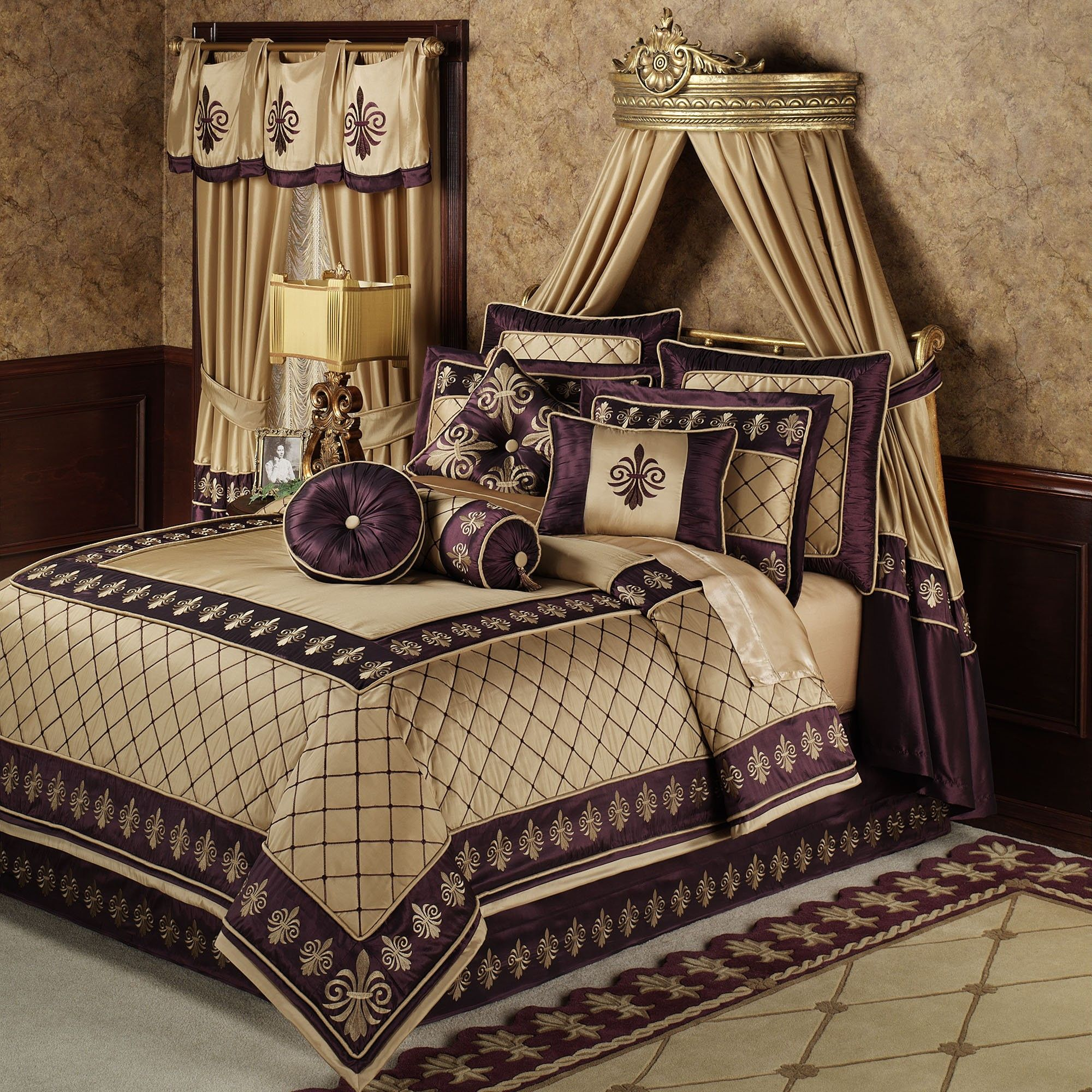 plain purple comforter f purple mixed light brown bedding