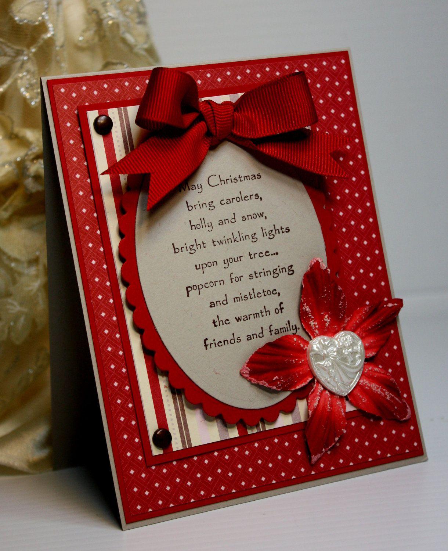 Christmas Card Handmade Greeting Card Holiday Card