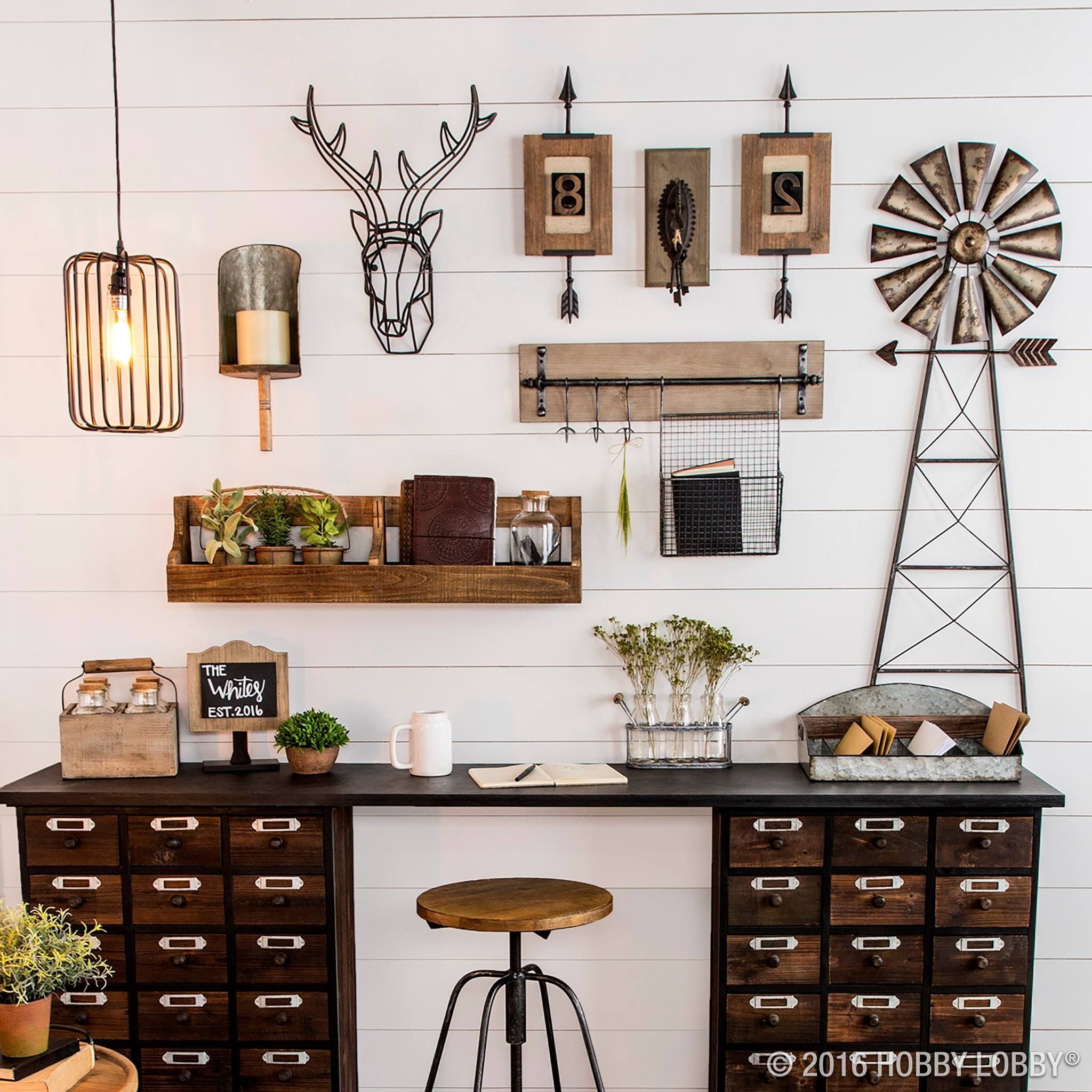 Hobby lobby urban farmhouse! … Pink House Inspiration