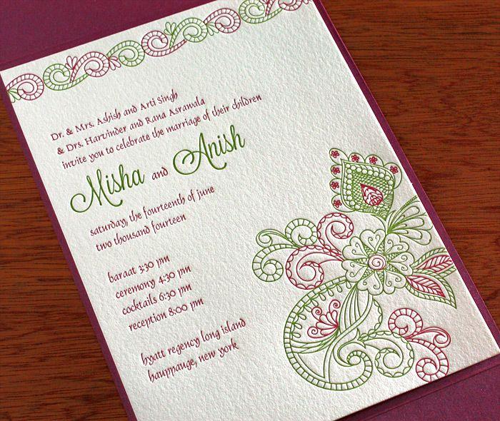Top Indian Wedding Invitation Cards Letterpresses