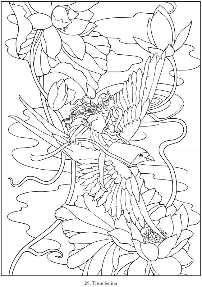 famous fairy tales coloring book in embroidery from