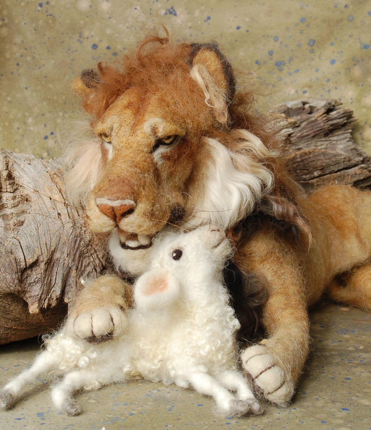 Needle Felted Lion Lamb March